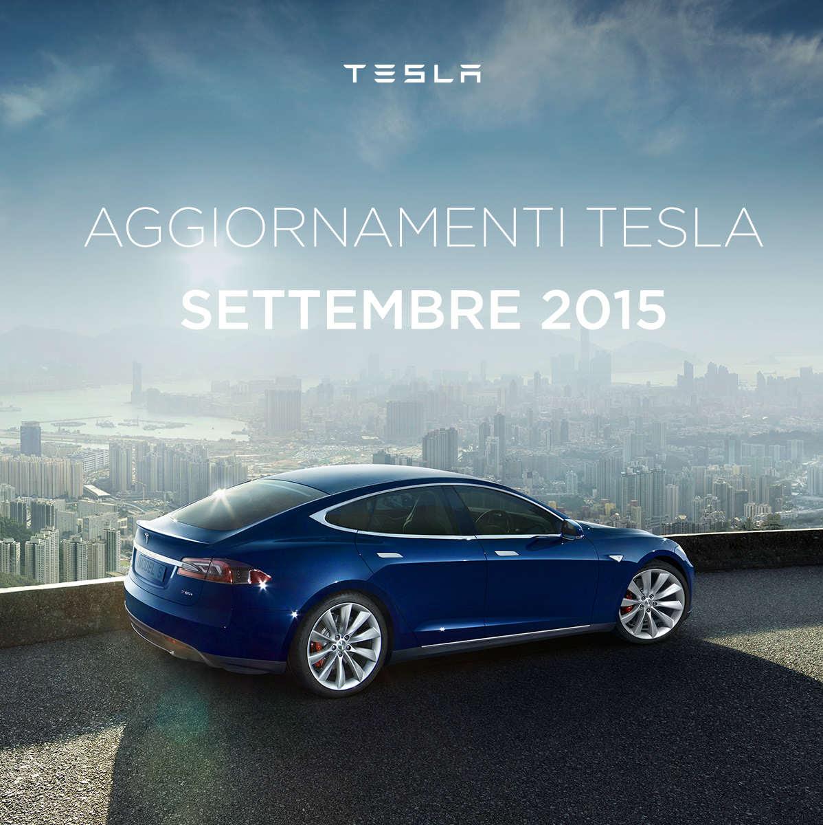 aggiornamenti TESLA settembre 2015