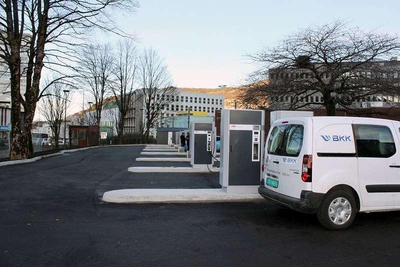 Stazione di ricarica veloce in Norvegia