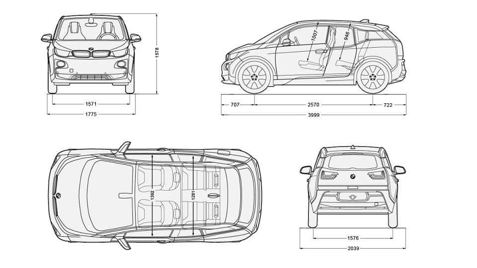 auto elettrica BMW i3 - dati tecnici