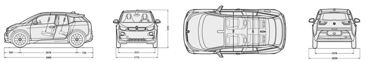 dimensioni BMW i3 REX