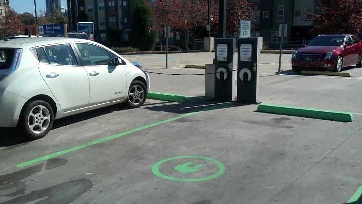 auto elettrica - stazione di ricarica EV