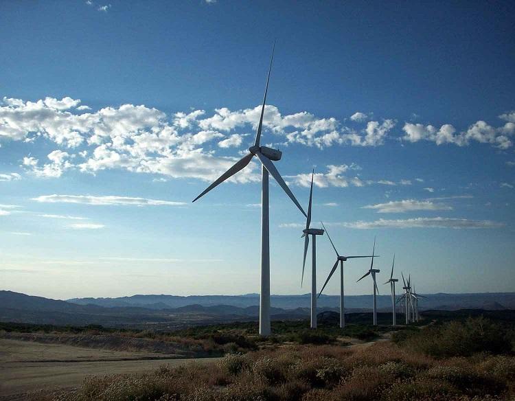 Popolarità delle auto elettriche - impianto eolico