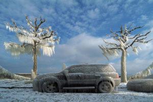 autonomia auto elettrica - EV congelato
