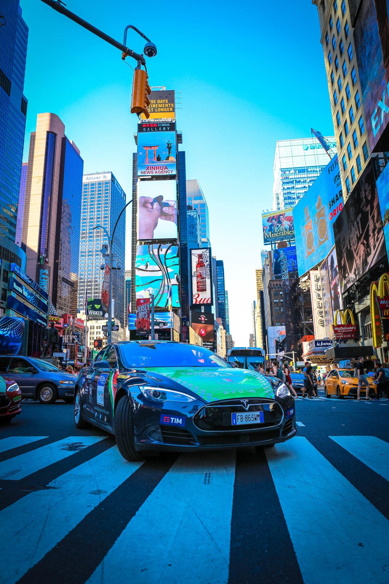 odissea del Team Italia - Times Square