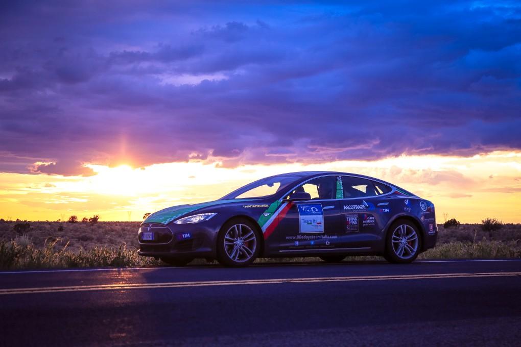 80edays Team Italia - Grand Canyon Tesla Model S