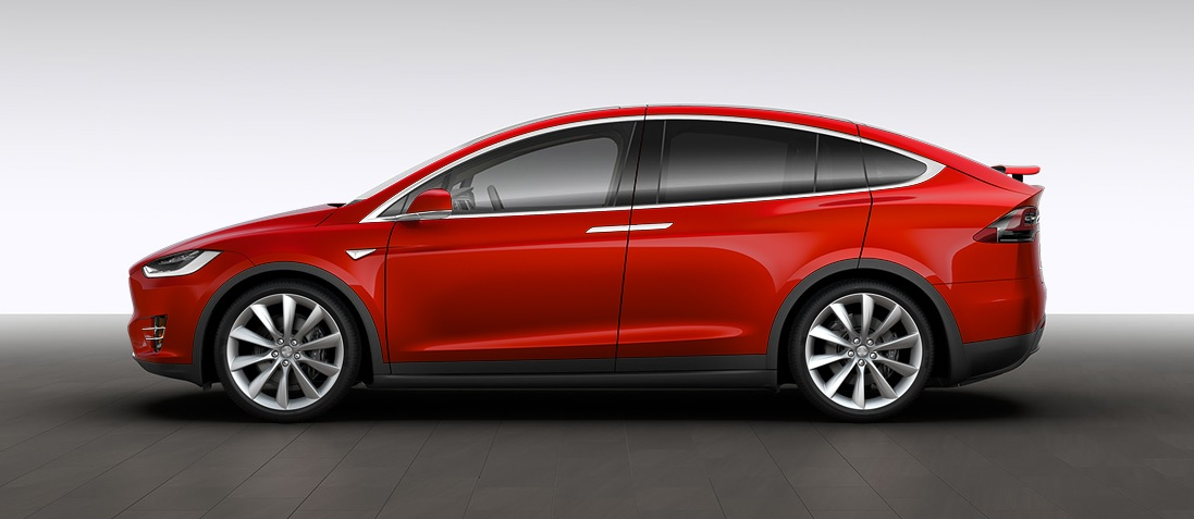 Tesla Model X rossa