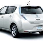 Revised-Nissan-Leaf-Japanese-Spec-Brilliant-White-Pearl-rear-side-view