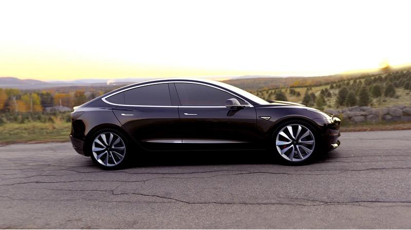 auto elettriche 2017, Tesla Model 3