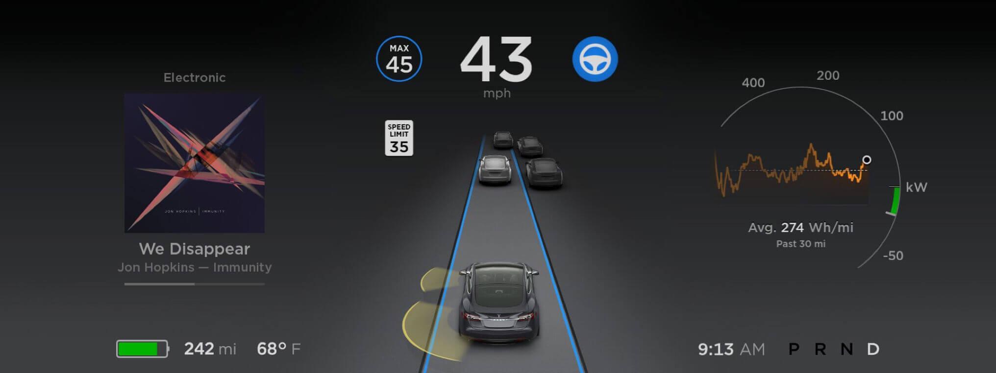 Tesla software 8.0 - Autopilot