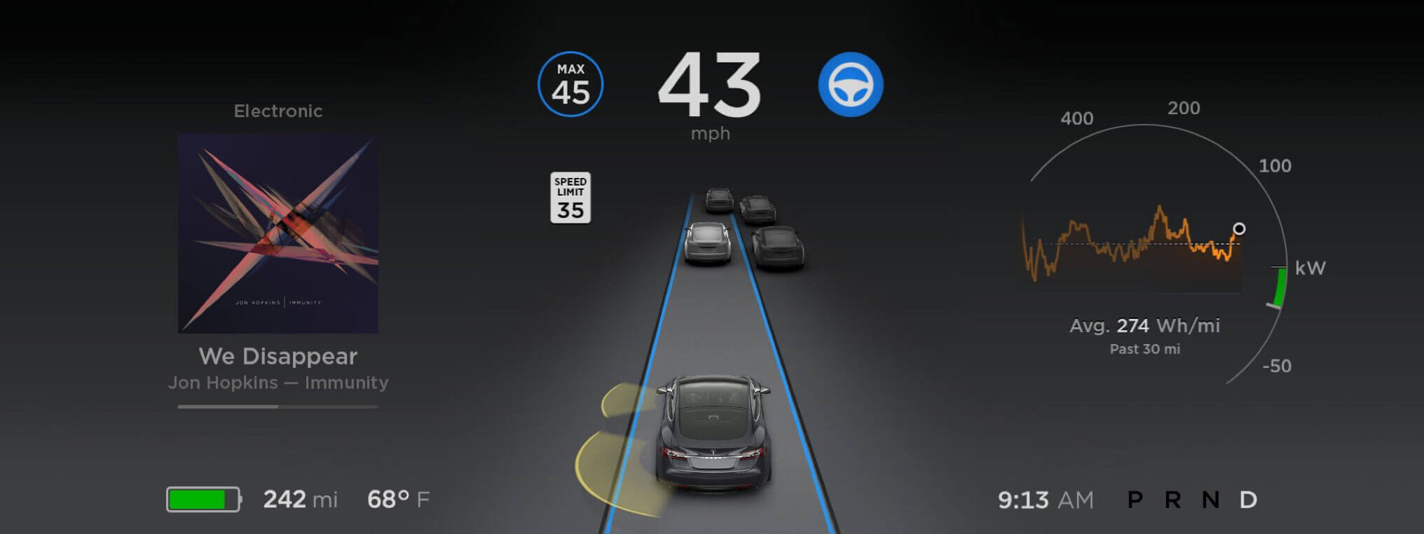 Tesla software 8.0 - Autopilot
