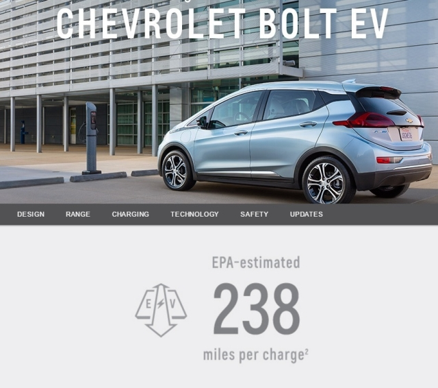Chevy Bolt EV range