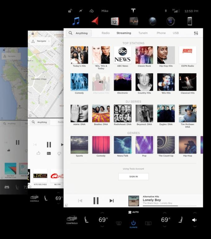 Tesla software 8.0 - Media Player