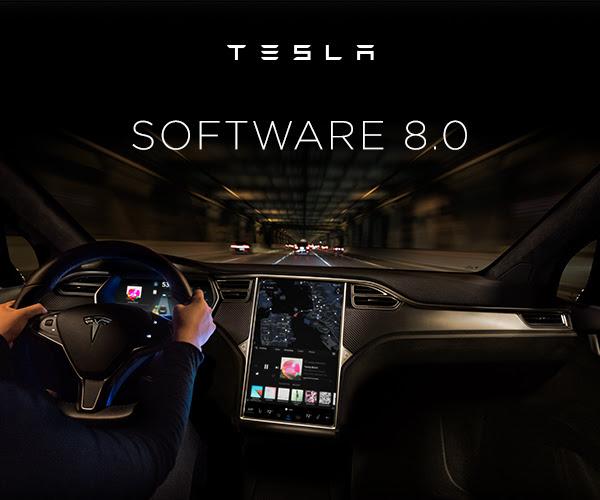 Tesla software 8.0