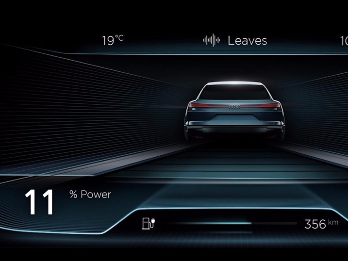 auto elettrica Audi - ricarica wireless
