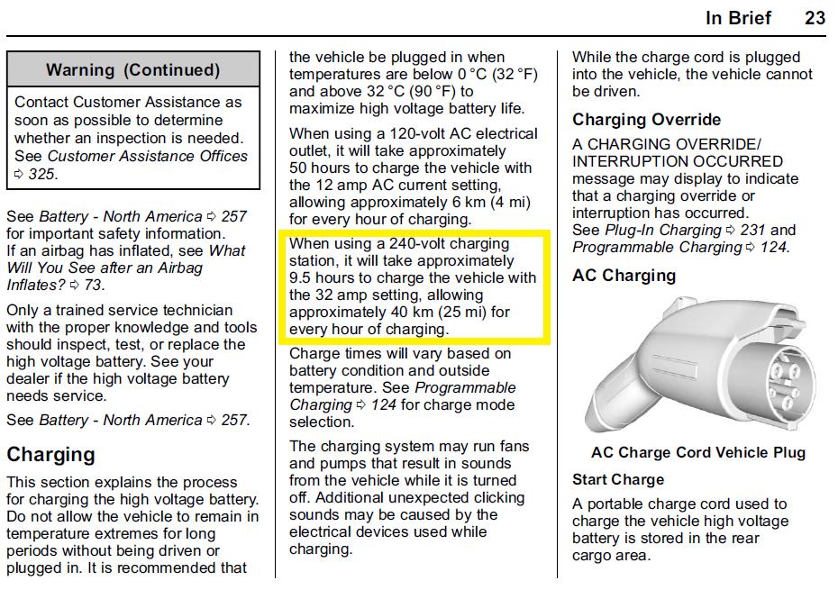 Manuale Chevrolet Bolt EV - Ricarica a basse potenze