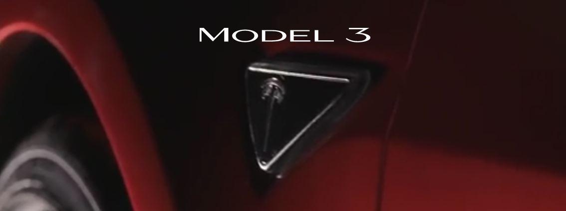 Logo Tesla Model 3: nuovo logo