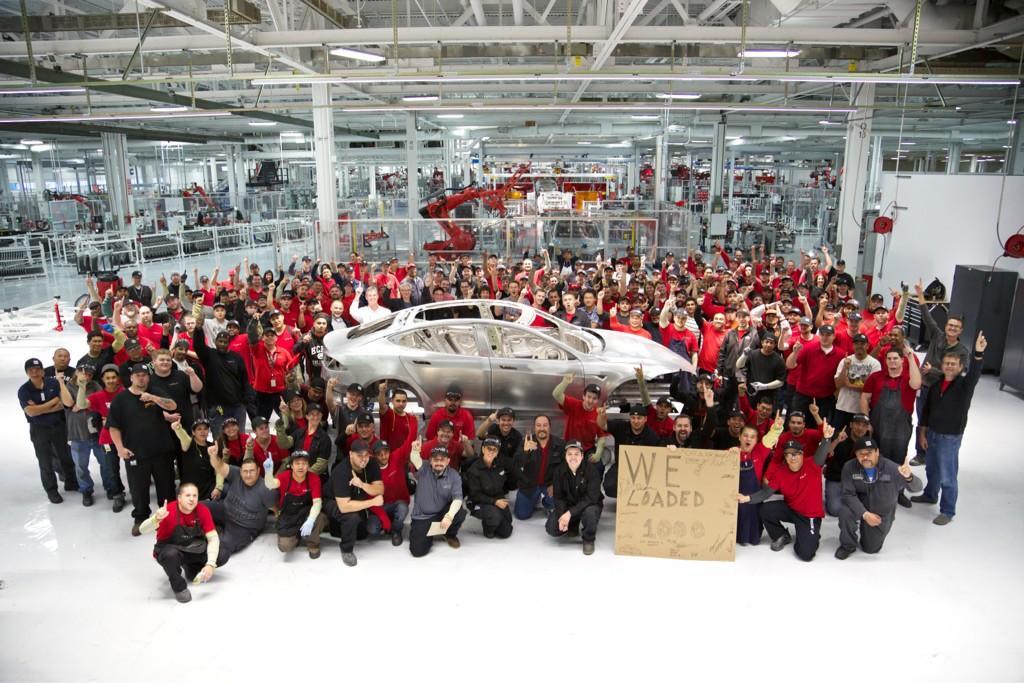 Batteria Tesla Model S - fabbrica