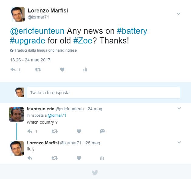 upgrade batteria zoe